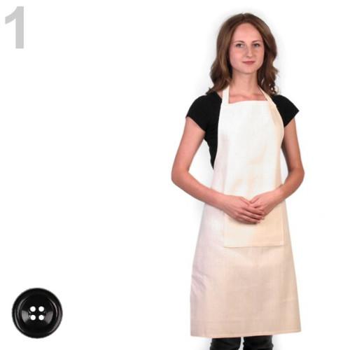 Kuchyňská zástěra 57x88 cm - vanilková
