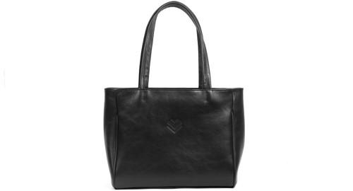 Velká kožená taška - černá