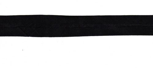 Šikmý proužek 100% bavlna - černý-20mm