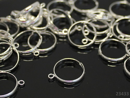 23433-10 Prsten. základ s očkem STŘÍBRNÝ,MEGA 10ks