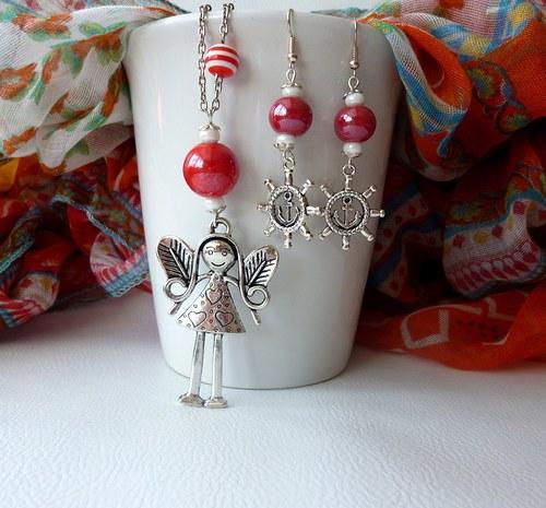 Andělka námořnice - náhrdelník
