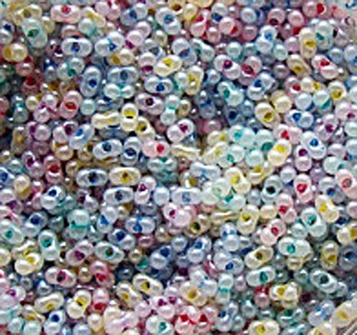 Rokajl skleněný Farfale 10g - neprůhledný mix