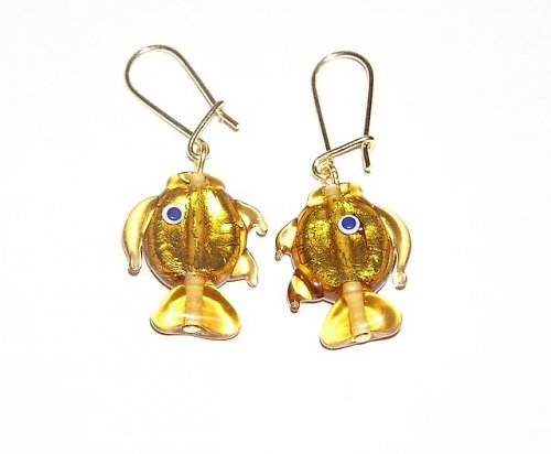 Náušnice rybičky - vinuté perle