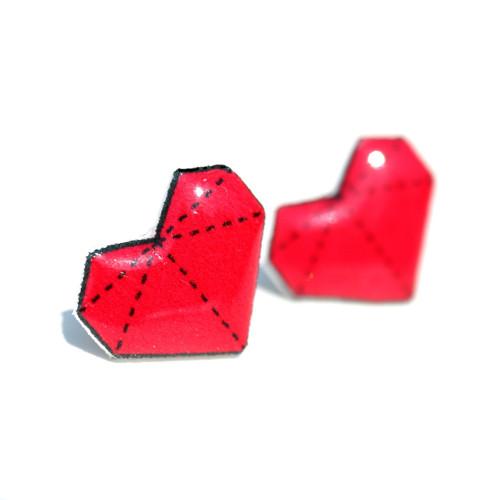 srdíčko origami - puzetky