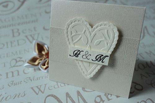Mini svadobné perleťové oznámenie o vzatí sa