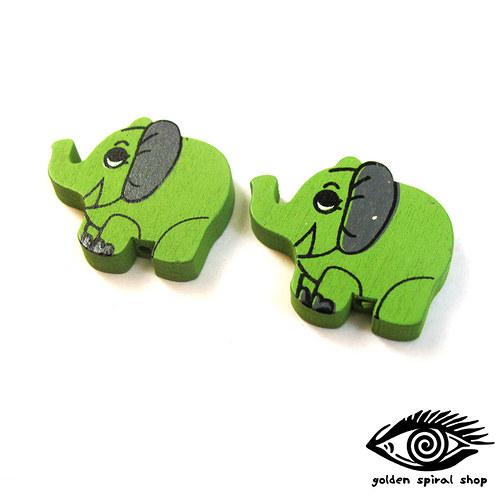 Slon - dřevěný (2 kusy)