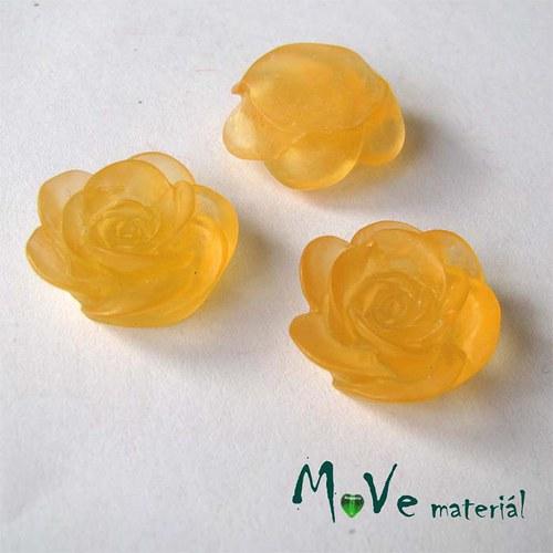 Kabošon květ transparent A4- resin - 2ks, oranžový