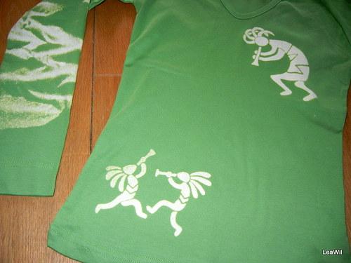 Tričko dlouhý rukáv S dámské - indiáni