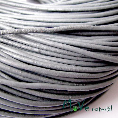 Kulatá přírodní kůže 2mm/1m, šedá