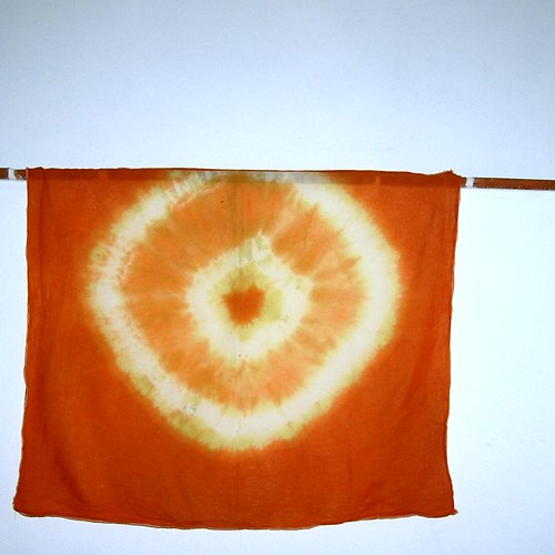 Bavlněný šátek maxi oranžáda