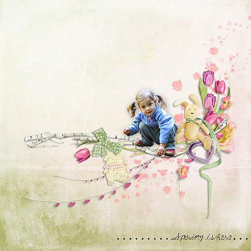 Tulipánová jarní.... koláž s Vaší fotkou