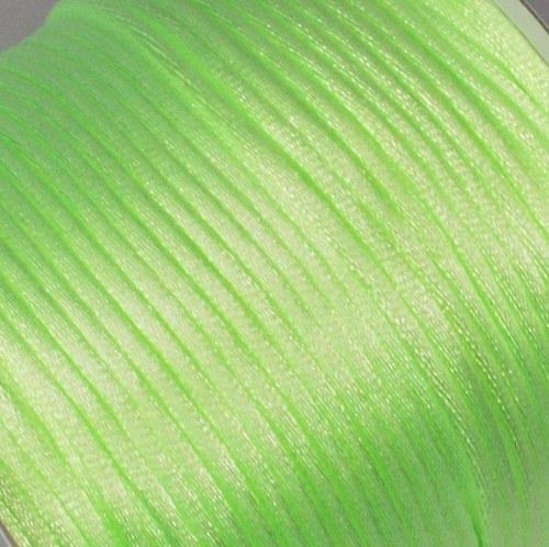 Saténová šňůrka 2 mm / zelenkavá