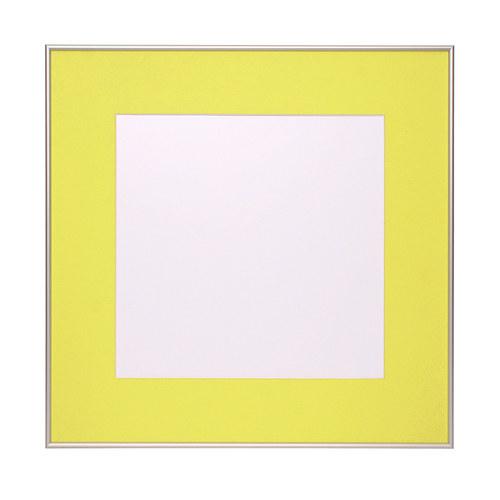 Hliníkový rám s paspartou 60x60 cm - Žlutá