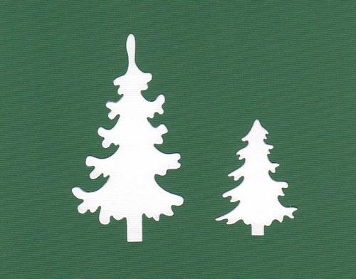 Jehličnaté stromky - bílé (2 ks)