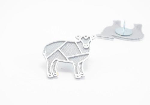 Připínáček ovečka silver/white