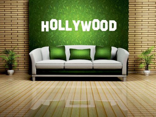Samolepka na zeď - Hollywood