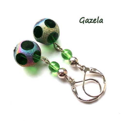 Náušnice Broušené zelené kuličky