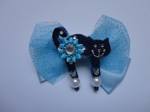 Brošnička modrá s mašlou:)