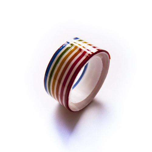 Lepicí páska - motiv barevné proužky