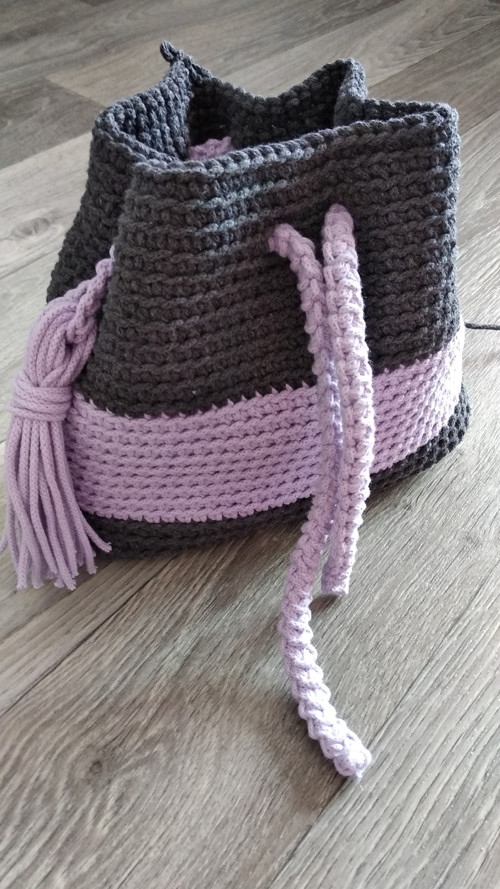 Háčkovaný vak, batoh, kabelka