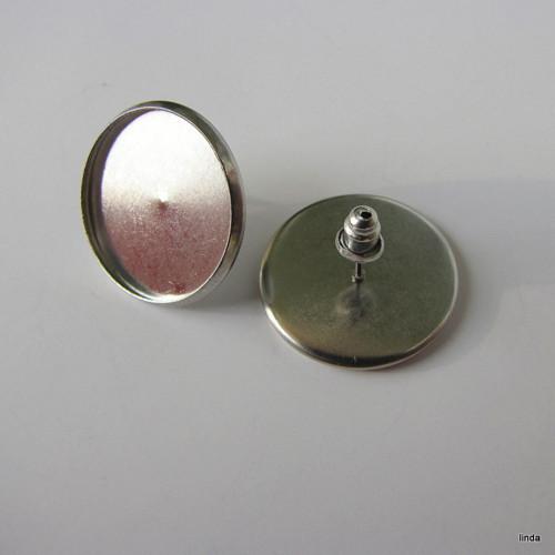 Náušnice * NEREZová ocel * 20mm * 1 pár/ bal