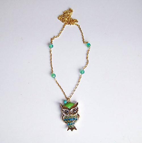 SLEVA  Sova Zlatice, zlatá, náhrdelník