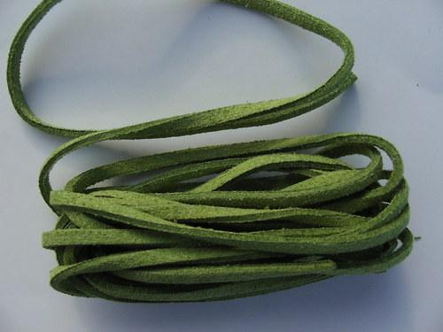 Imitace kůže, trávově zelená 3 mm
