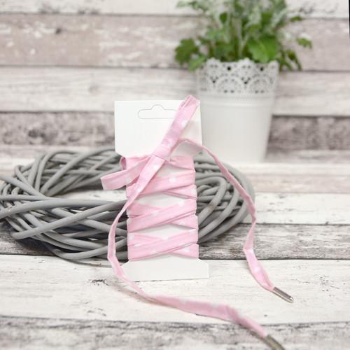 Tkaničky do bot DOTS světle růžové