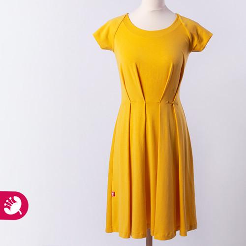 LAURA šafránové šaty vel. S
