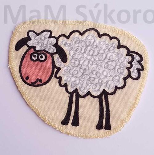Nažehlovací záplaty malovaná ovečka