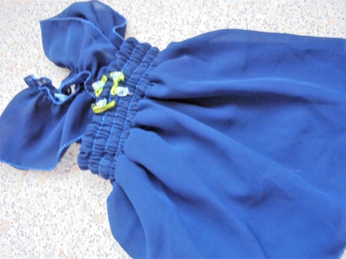 Hedvábné šaty-55-60 cm