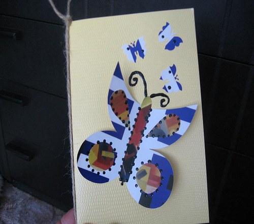 Přání s motýlkem - SLEVA!