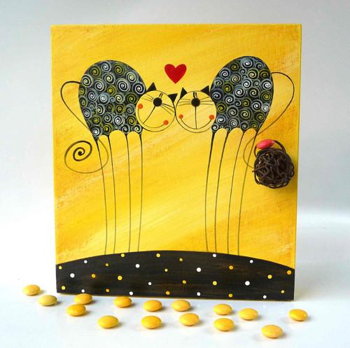 Sušák trpaslíků s alarmem - žlutý s tulínky