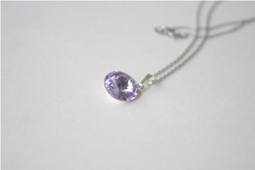 Fialkový náhrdelník Swarovski