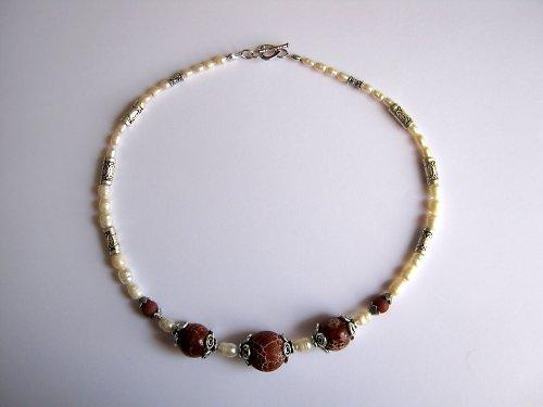 Fire agate náhrdelník