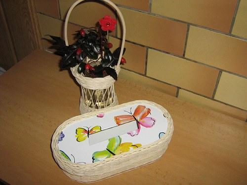 Krabička na papírové kapesníky - motýlková
