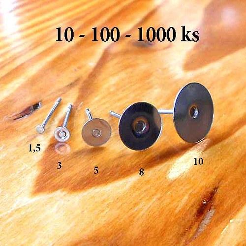 Puzetky 3mm - 10ks - Chirurgická Ocel