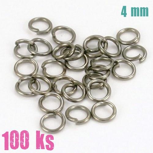 Leskle černé kroužky 4 mm (100 ks)