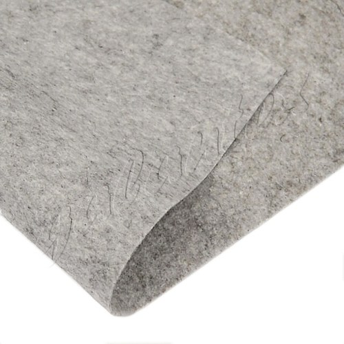 Dekorativní plsť / filc 20x30cm - šedá melanž