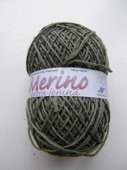 Merino jemná vlna olivová