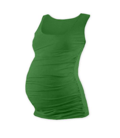 Těhotenské tričko bez rukávu tmavě zelené