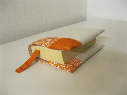 Režná a oranžová - knihu schová - obal na knihu