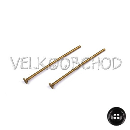 Ketlovací nýty 30 mm (50 ks) - staromosaz