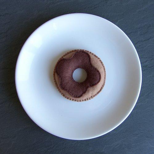 Donut s čokoládovou polevou - brož