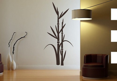 Rastlina 45x21cm Samolepíci dekorace na zeď 3050n