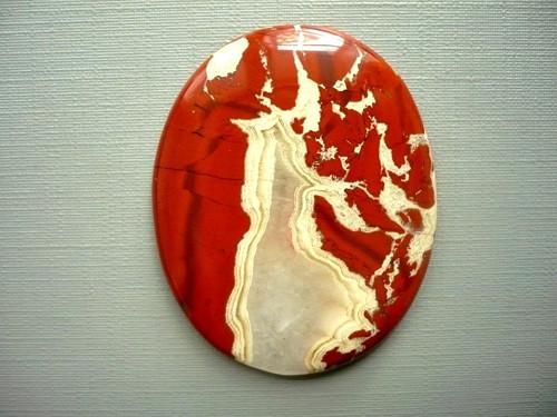 Velký kabošon - jaspis červený 46 mm, č.3