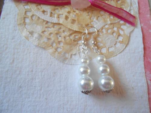 Náušnice perličkové - slavnostní