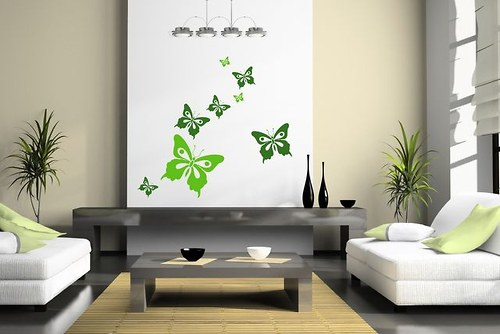 Motýle 12ks-od8do20cm Nálepka na stenu -  (164n)