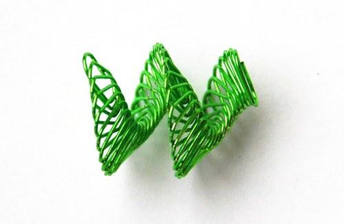 spirálka z drátku- zelená