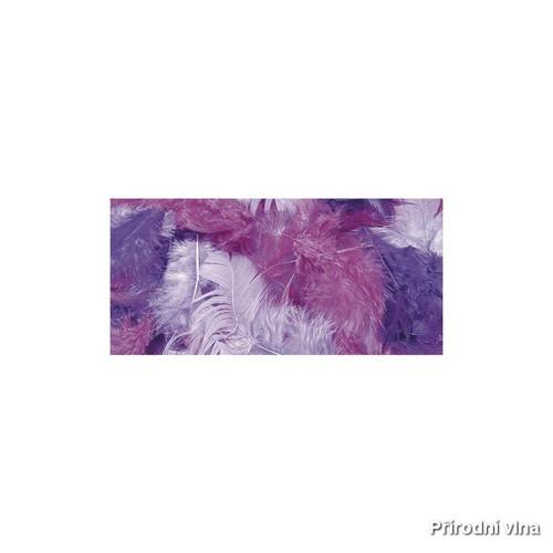Směs barevných peří fialová 10 g